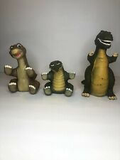 1988 The Land Before Time Pizza Hut Amblin Dinosaur Figure Toy Puppet Lot Of 3
