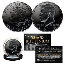 BLACK RUTHENIUM 2018-P JFK Kennedy Half Dollar U.S. Coin COA (Philadelphia Mint)