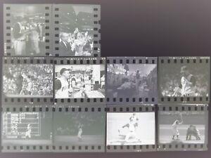 LD118-93 1960 WORLD SERIES CHAMP PITTSBURGH PIRATES 10PC ORIG 35MM B&W FILM NEGS
