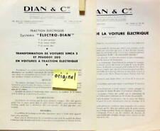 1941 DIAN TRACTION ELECTRIQUE SIMCA 5 ET PEUGEOT 202 SYSTEME ET AVANTAGES