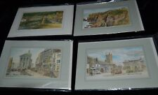 Vintage Lot 4 Greeting Art Cards DAVID SKIPP England St Just Land's End Unused!