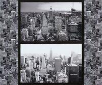 "35"" Fabric Panel - Robert Kaufman Cityscapes Gotham Digital New York Skyline"