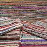 Recycled Cotton Chindi Rag Rugs, Multi Coloured, Handmade