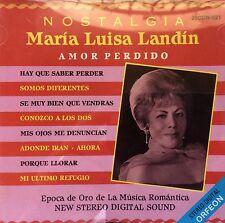 Maria Luisa Landin Nostalgia Vol I Bolero CD ORFEON Puerto Rico MINT