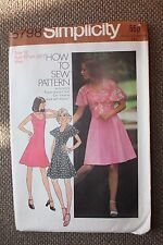 Simplicity Sewing Pattern Misses Short Princess Seam Dress and Top Size 12