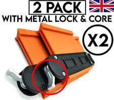"""Contour Gauge Profile Tool With Metal Lock High Quality 2 PACK 10"""" & 5"""" Tough"""
