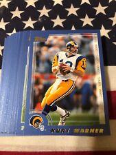2000 Topps Rams Team Set With Kurt Warner