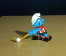Smurfs Field Hockey Rare Red Shirt Variant Figure Vintage Smurf Figurine 20133