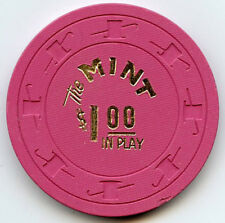 The Mint Hotel/Casino, Las Vegas -$1 IN PLAY Chip  - 1982