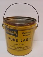 Antique Vintage 1960s NODAWAY PURE LARD TIN MARYVILLE MISSOURI ADVERTISING TIN