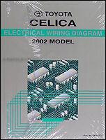 BRAND NEW 2002 Toyota Celica Wiring Diagram Manual Electrical Shop Repair GT GTS
