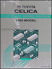 BRAND NEW 2002 Toyota Celica Wiring Diagram Manual Electrical Shop Repair GT GTS