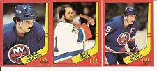 Bryan Trottier Billy Smith Denis Potvin 82/83 McDonalds Stickers