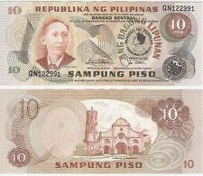 Philippines 10 Piso 1981 P-167a UNC Uncirculated Commemorative Banknote