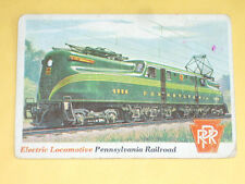 1955 Topps rails + sails card # 3 ELECTRIC LOCOMOTIVE , PA RAILROAD-  GG1 Elect