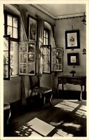 Meersburg Postkarte ~1950/60 Altes Schloß Innenansicht Sterbezimmer der Droste