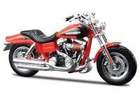 Maisto Harley-Davidson 2009 FXDFSE CVO Fat Bob 1:18 Scale Model Motorbike Orange