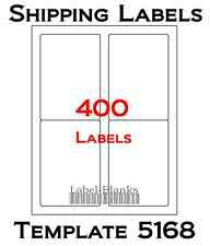 """400 Laser / Ink Jet Labels 3.5"""" x 5"""" Shipping Compatible with Size 5168. 100"""