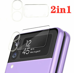For Samsung Galaxy Z Flip 3 5G, 2in1 3D Camera Lens Full Cover Glass Protector