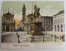 2-teilige Klappkarte TORINO Turin Italien 1906 gelaufen nach Gmünd mit A-Stempel