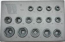 Stubby Impact Socket Set from Welzh Werkzeug extra short 1/2dr 2888-WW 28mmDeep