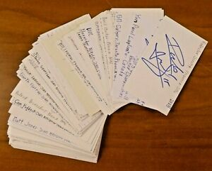 129 Phoenix Coyotes Signed Hockey Autographs 3x5 Lot