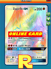 RR Zygarde GX - Rainbow - for Pokemon TCG Online ( DIGITAL ptcgo in Game Card)