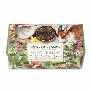 Michel Design Works Large 8.7 oz Artisanal Bar Bath Soap Bunny Hollow - NEW