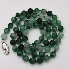 24Inch 6mm Natural Noble Two-color Jade Gemstone Necklace JN1936