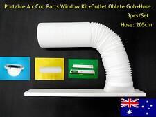 Portable air conditioner Part Outlet oblate gob+Window Kit+hose 2m- 3pc/Set 15cm