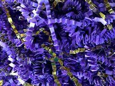 Crinkle Cut Paper Shred Gift Basket Filler - Lavender Purple & Gold Blend