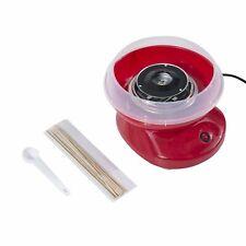HOMCOM  Macchina per Zucchero Filato in PP, Acciaio Inox e Alluminio 450W Rosso