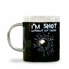 "Big Mouth Toys  ""I'm Shot without My Coffee""  Funny Joke Prank Gag Glass Mug Cup"