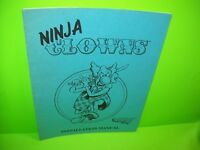 Strata NINJA CLOWNS Original Video Arcade Game Service Instruction Repair Manual