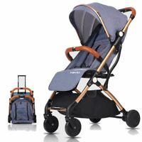 Blue  Stroller for Kids Lightweight Buggy Easy Fold Travel Stroller Buggy Cabin