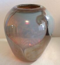 Large, Signed John Barber Studio Art Glass Vase - a Beauty!