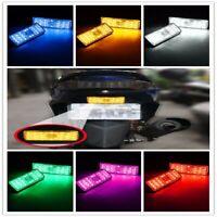 2x Rectangle Reflector LED Rear Tail Brake Stop Light For Car Trailer Truck