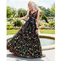 Ladies Floral V-neck Backless Sling Long Maxi BOHO Dress Womens Party Dresses SZ