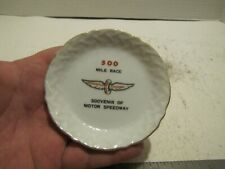 VTG SMALL SOUVENIR PLATE 500 MILE RACE INDIANAPOLIS MOTOR SPEEDWAY MISSPELLED