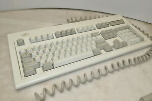 Vintage IBM Model M 1391401 Clicky Mechanical Keyboard - Black & Green Alt Keys