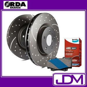 NISSAN PATROL GU Y61 2.8 3.0 4.2 4.5 - RDA Rear SLOTTED Discs & BENDIX 4WD PADS