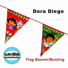 DORA THE EXPLORER GO DIEGO GO FLAG BANNER BUNTING PARTY DECORATIONS - 1 PK
