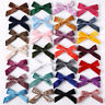 Kids Cute Velvet Knotted Bow Hair Clip Solid Color Baby Hairpin Girls Barrettes