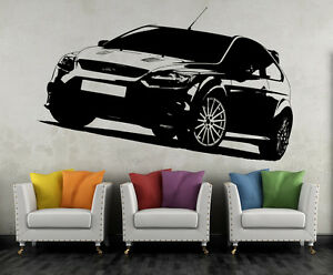Ford Focus RS Wandtattoo Wand Tattoo Sportwagen Traumwagen Wandbild Aufkleber