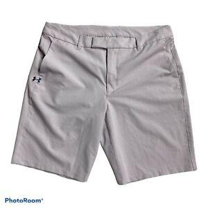 Under Armour Heat Fitted Gear Golf shorts womens medium purple Zipper Latch