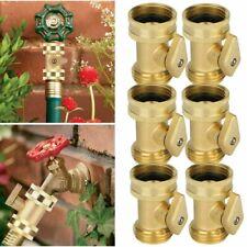 2x 3/4'' Brass Garden Hose Shut Off Valve Water Pipe Faucet Connector Handy Lot