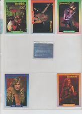 MEGADETH 1991 BROCKUM ROCK 14 CARD 6 LIMITED STICKERS & 1 RARE HOLOGRAM SUBSET