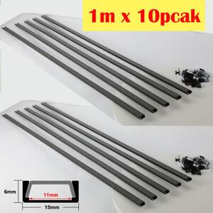 10x 1m LED Profil Aluprofil Aufputzprofil Schwarz U-Form Schiene für LED-Stripe