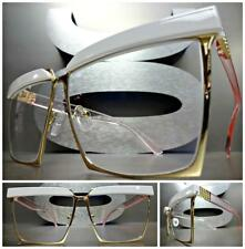 New CLASSIC VINTAGE RETRO Style Clear Lens EYE GLASSES Gold & Pink Fashion Frame