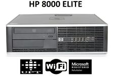 HP 8000/6000/4000 Windows 7 Pro Intel Core 2 Duo 3GHz 160GB DVD WiFi 8GB Desktop